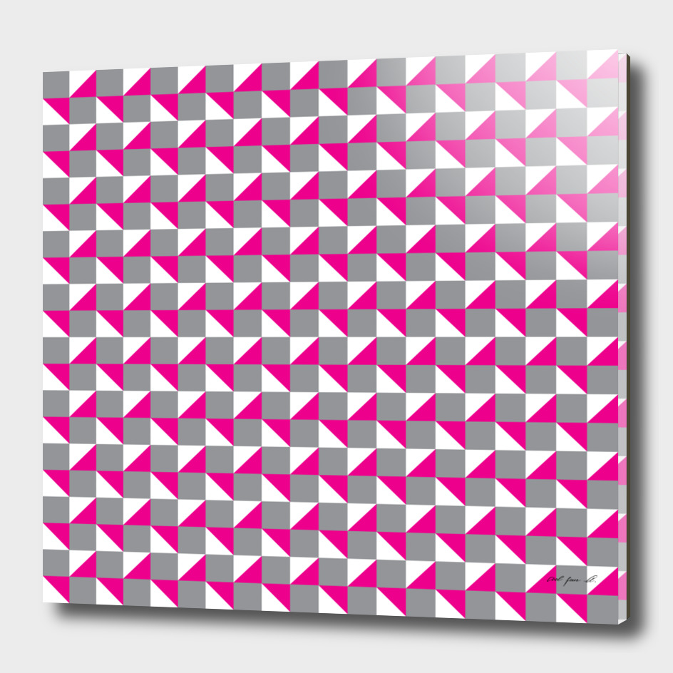 Grey Pink and White Geometric Pattern