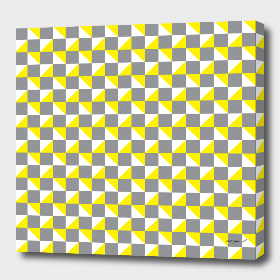 Grey Yellow and White Geometric Pattern