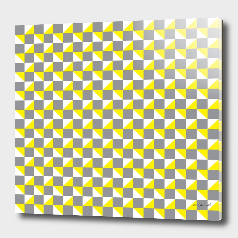 Grey Yellow and White Geometric Pattern