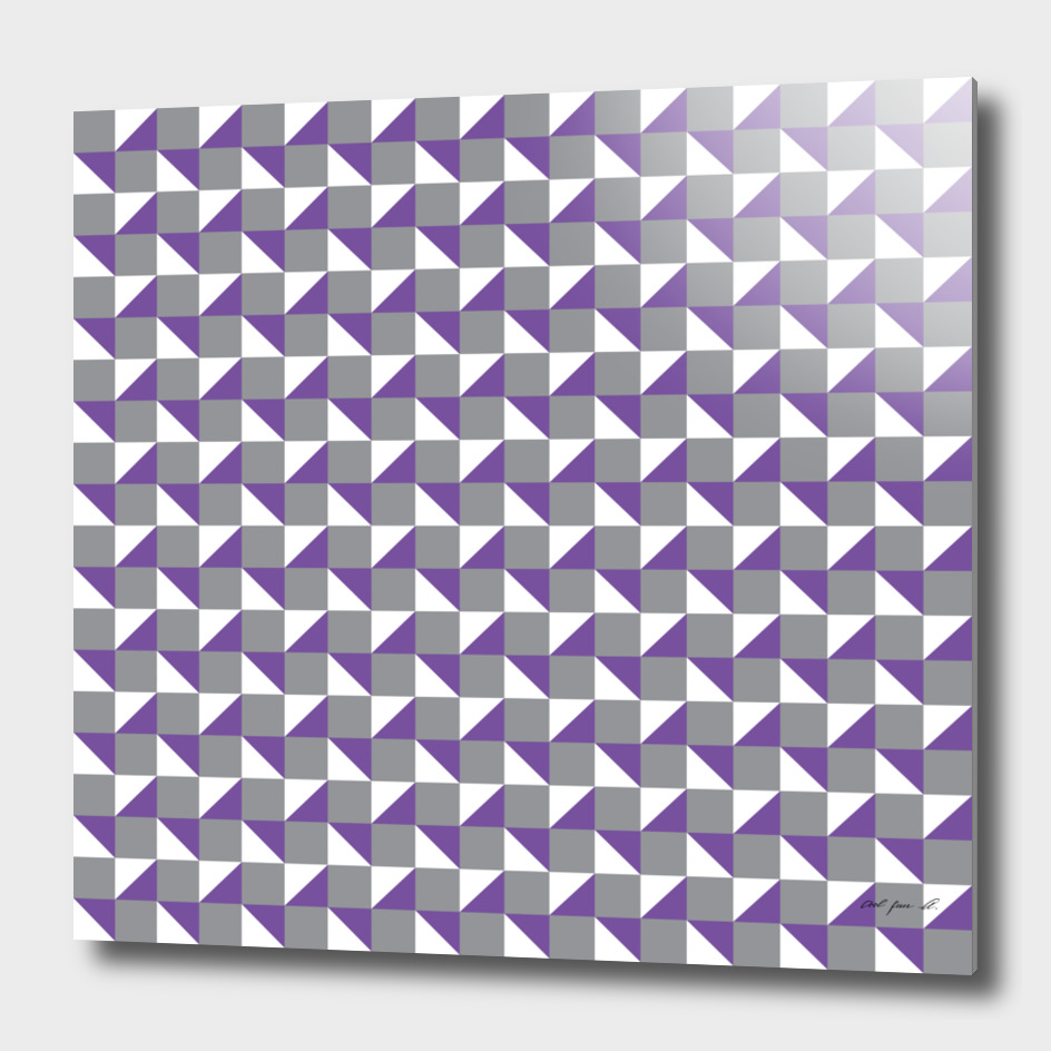 Purple Grey and White Geometric Pattern