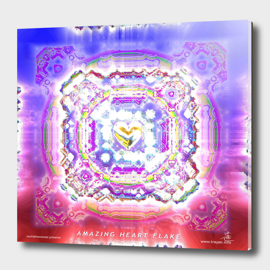 Amazing Heart Flake Mandala