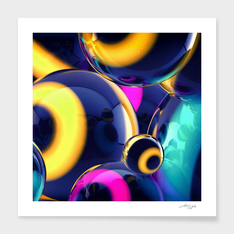 Abstract glossy balls