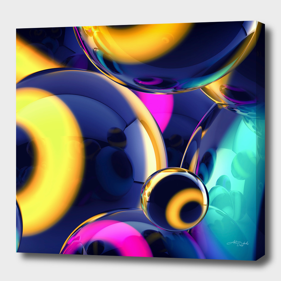 Abstract glossy balls