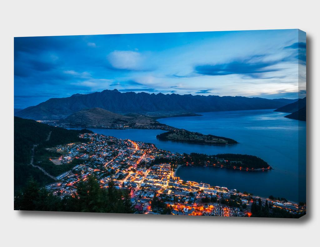 Queenstown City Lights, New Zealand