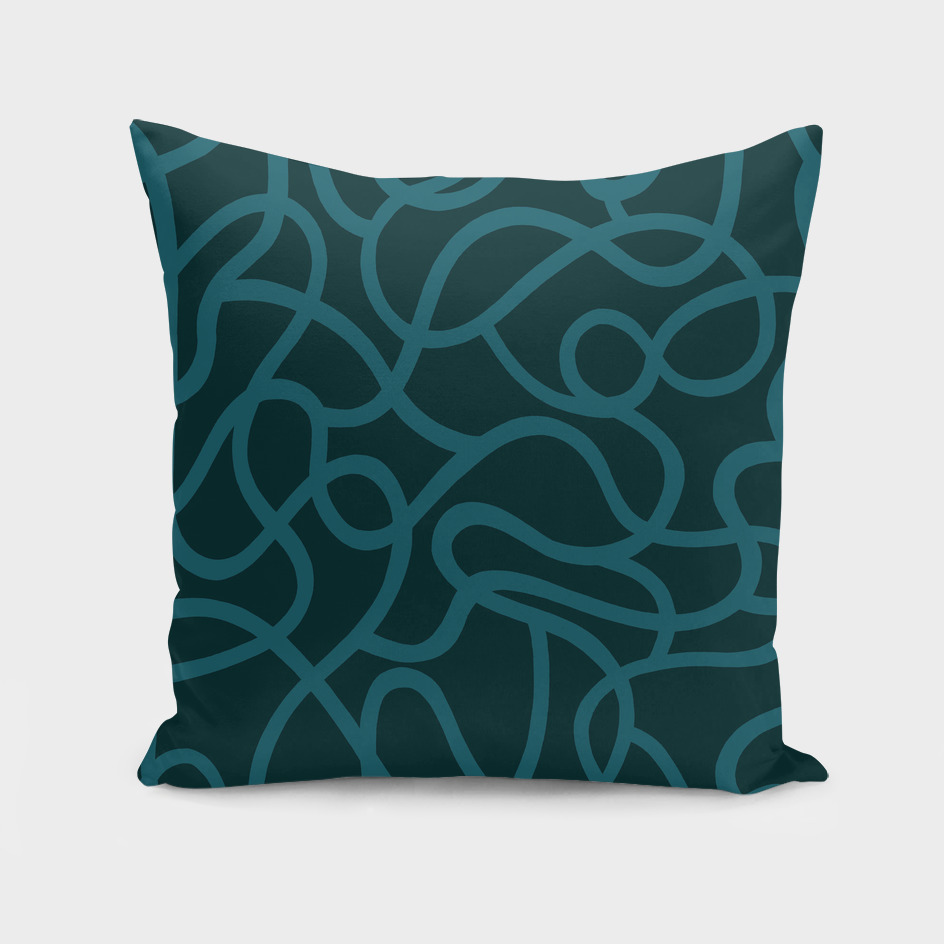 Organic River Lines - Dark Blue