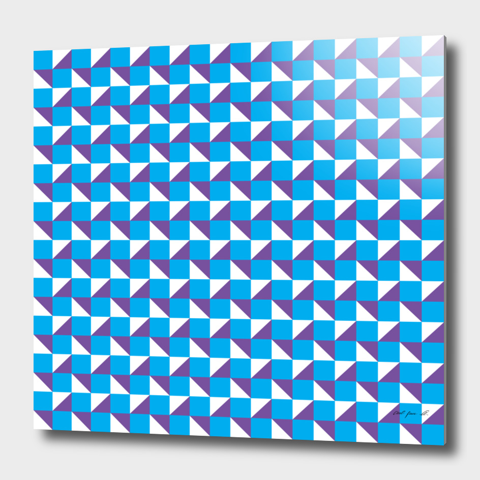 Blue Purple and White Geometric Pattern