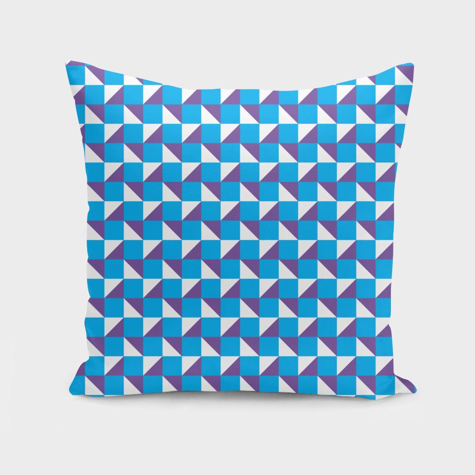Blue Purple and White Geometric Pattern