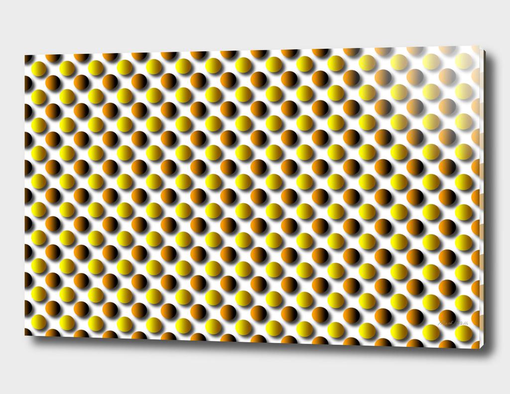 Polka Dot Orange and Brown Circles