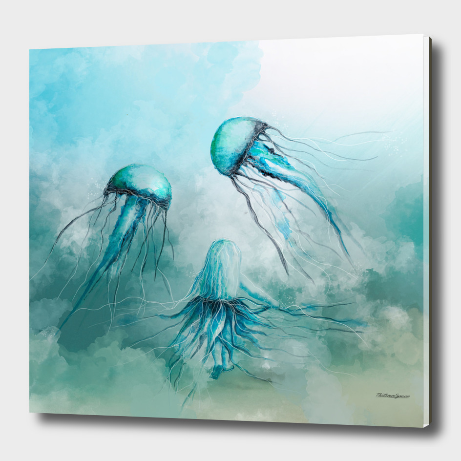 child jellyfish watercolor