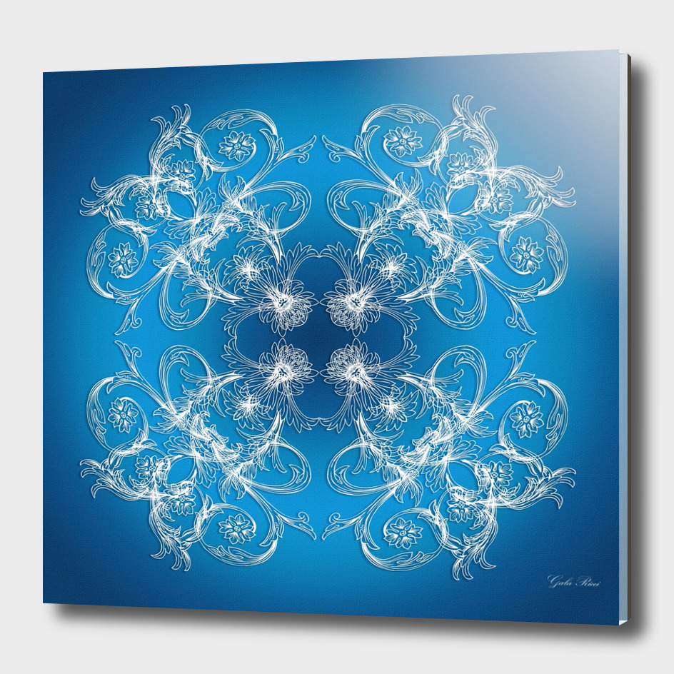 Baroque style blu e texture