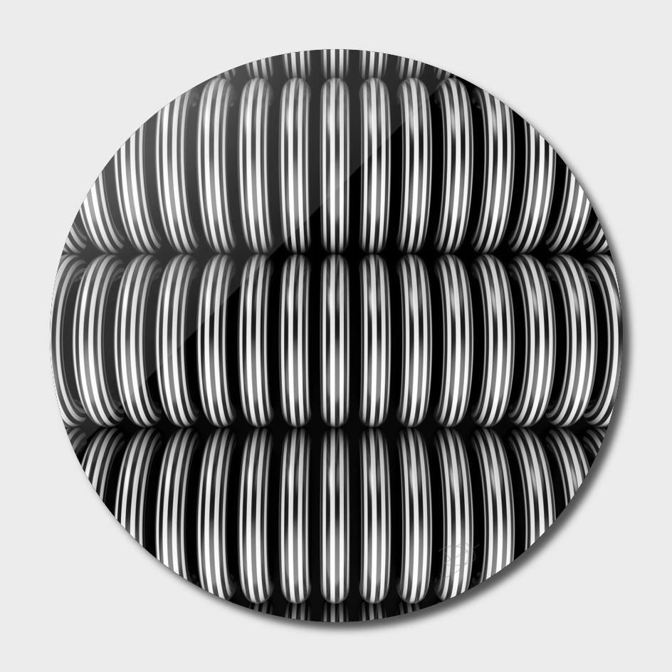 B&W Half Circle Pattern
