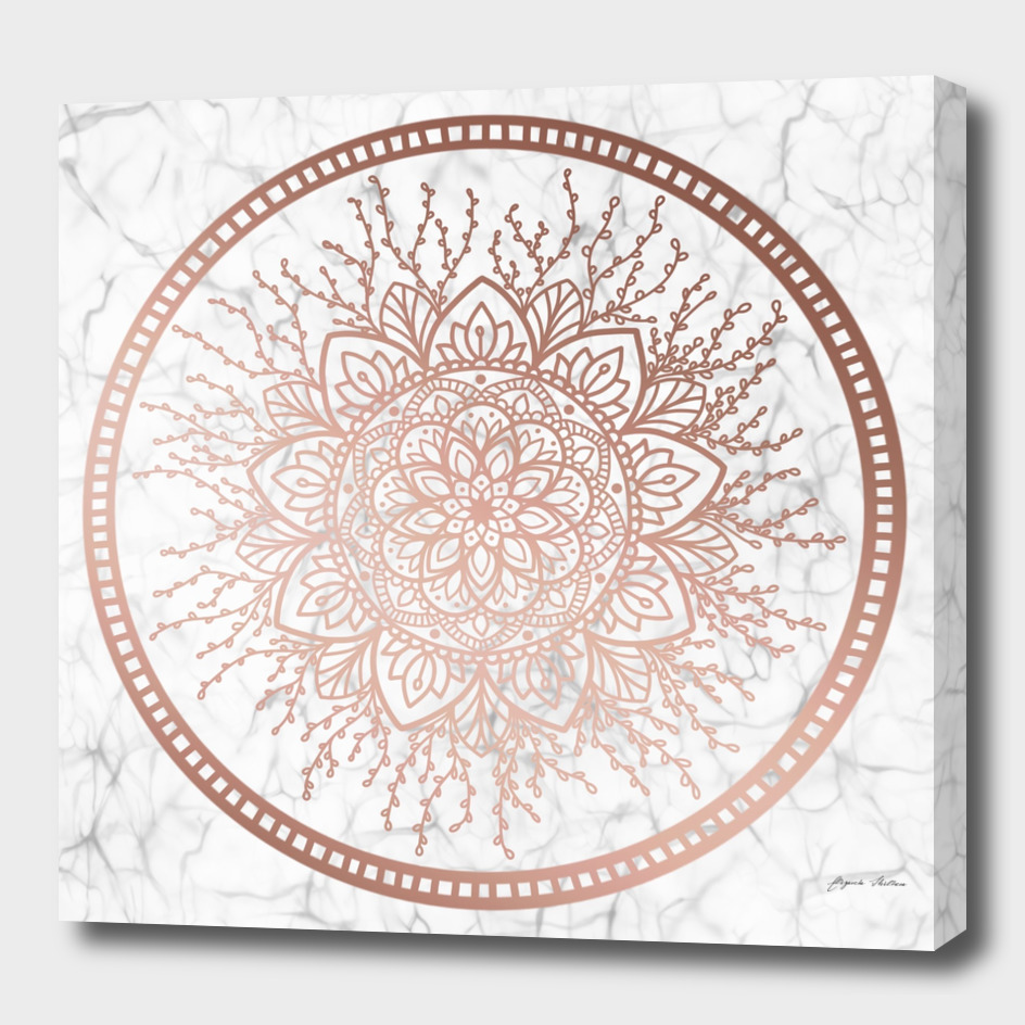 Rose Gold Nature Mandala