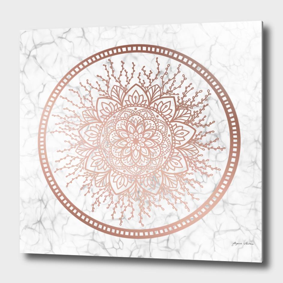 Rose Gold Nature Mandala