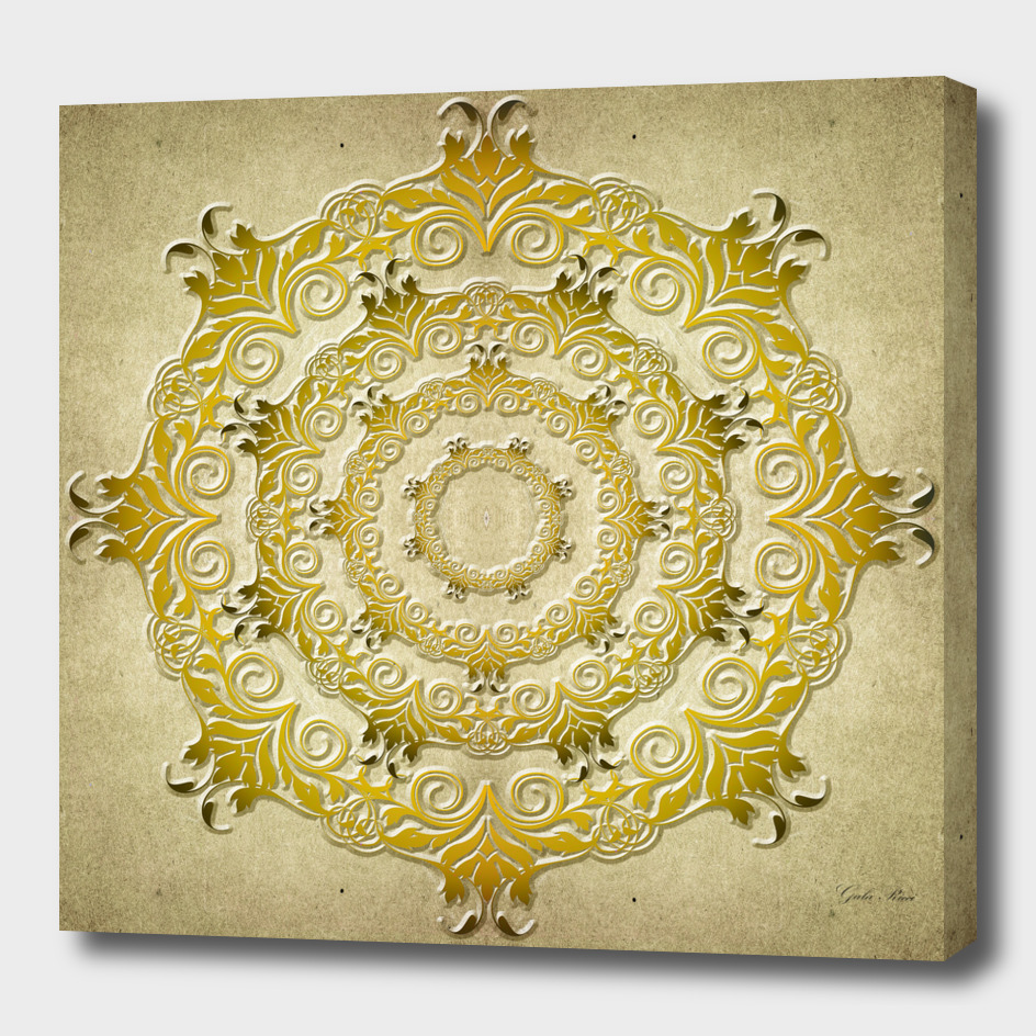 Ethnic mandala on grunge background
