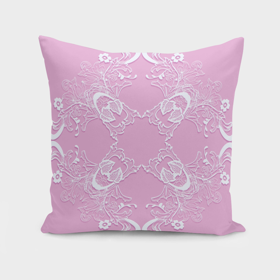 Baroque style pink lace pattern