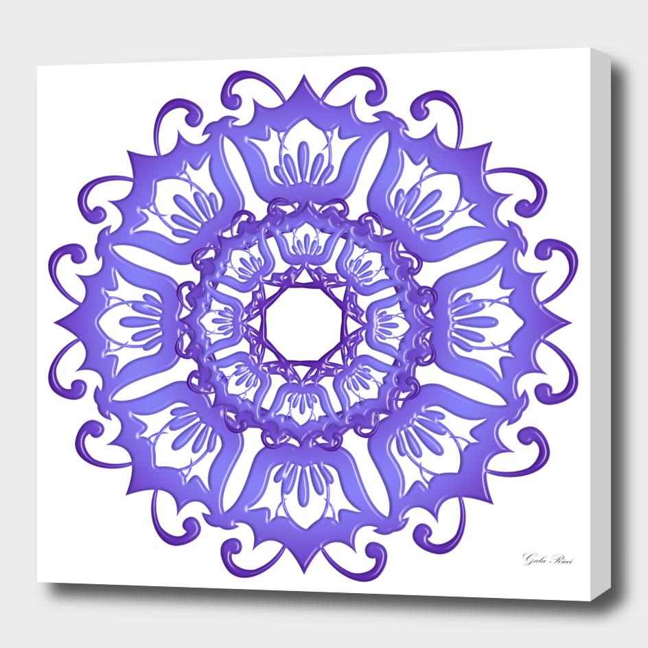 Flora violet mandala