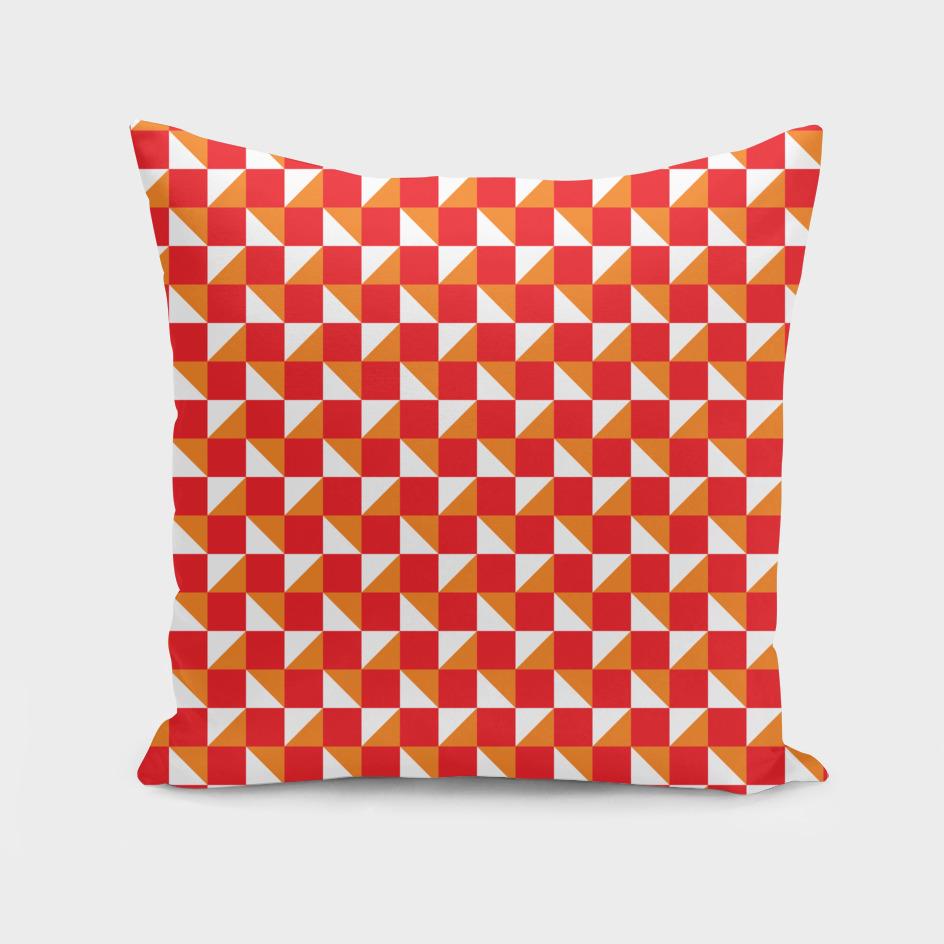 Red Orange and White Geometric Pattern
