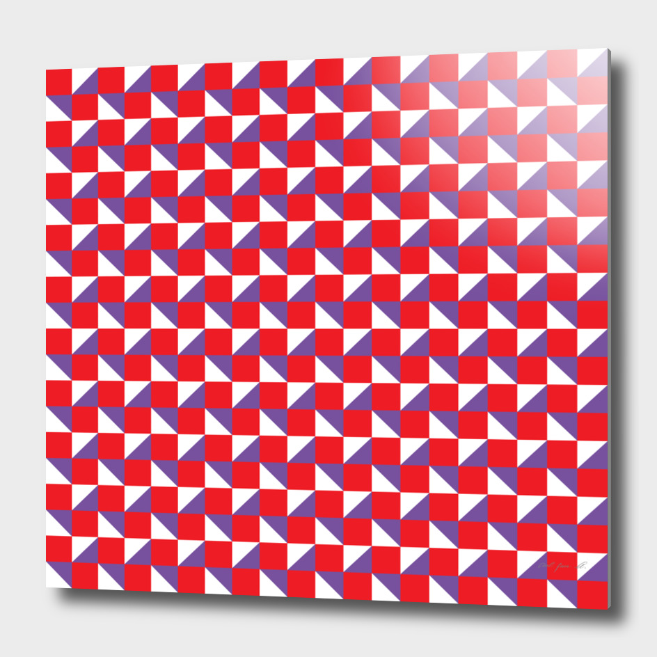 Red Purple and White Geometric Pattern
