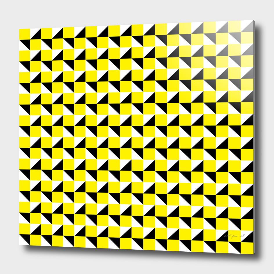 Yellow Black and White Geometric Pattern