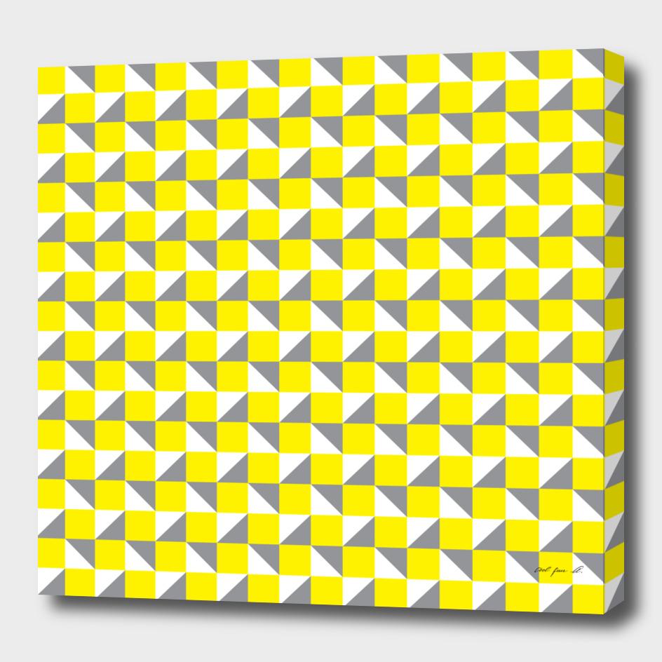 Yellow Grey and White Geometric Pattern
