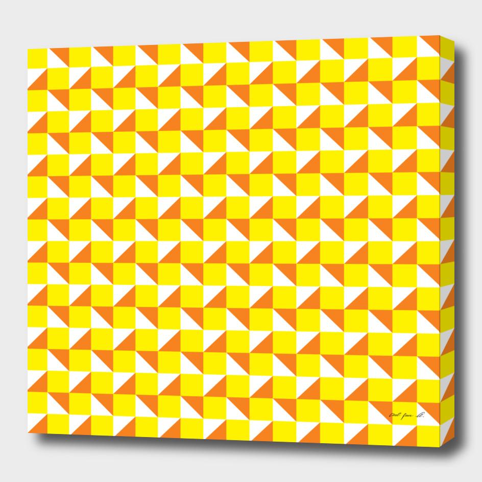 Yellow Orange and White Geometric Pattern