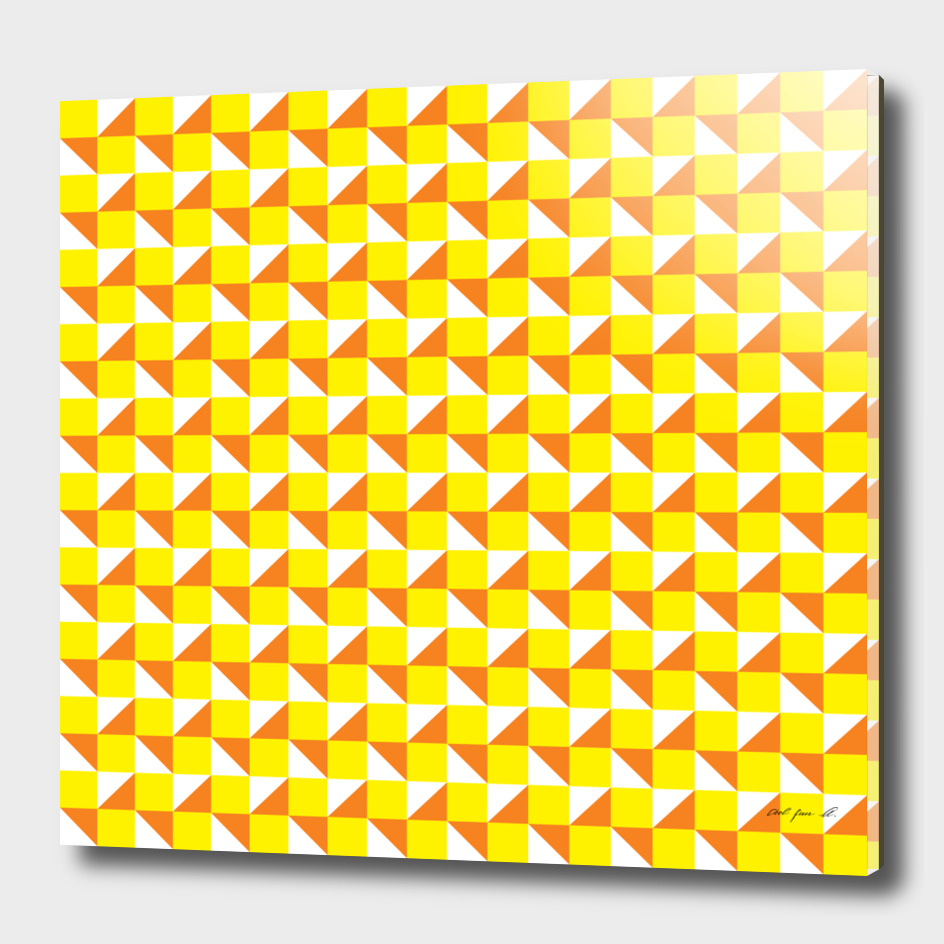 Yellow Orange and White Geometric Pattern