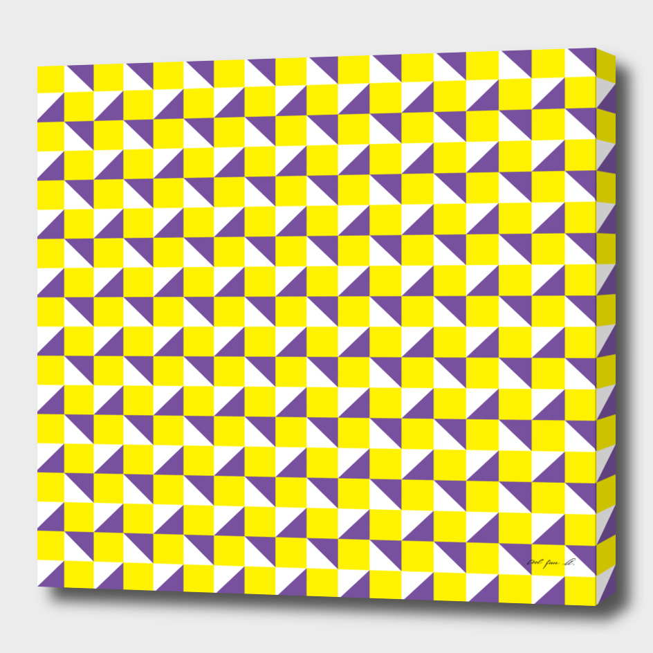 Yellow Purple and White Geometric Pattern