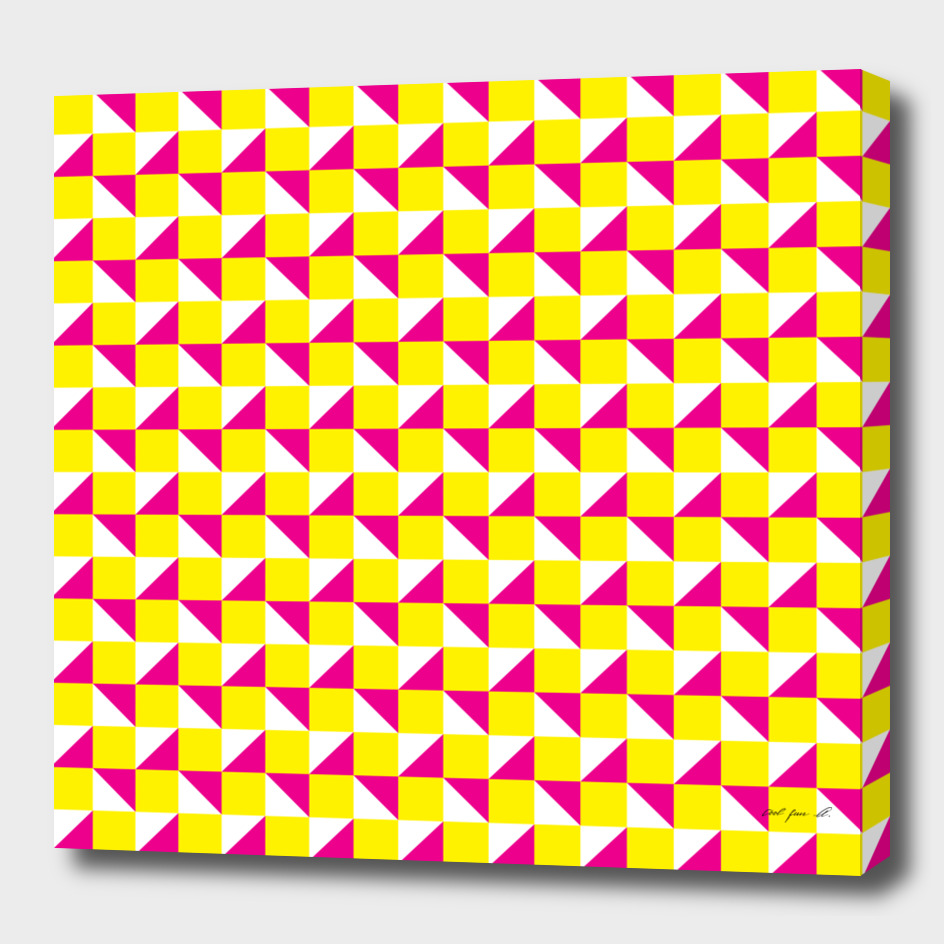 Yellow Pink and White
