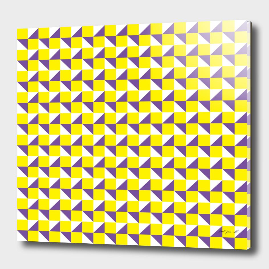 Yellow Purple and White Geometric Pattern