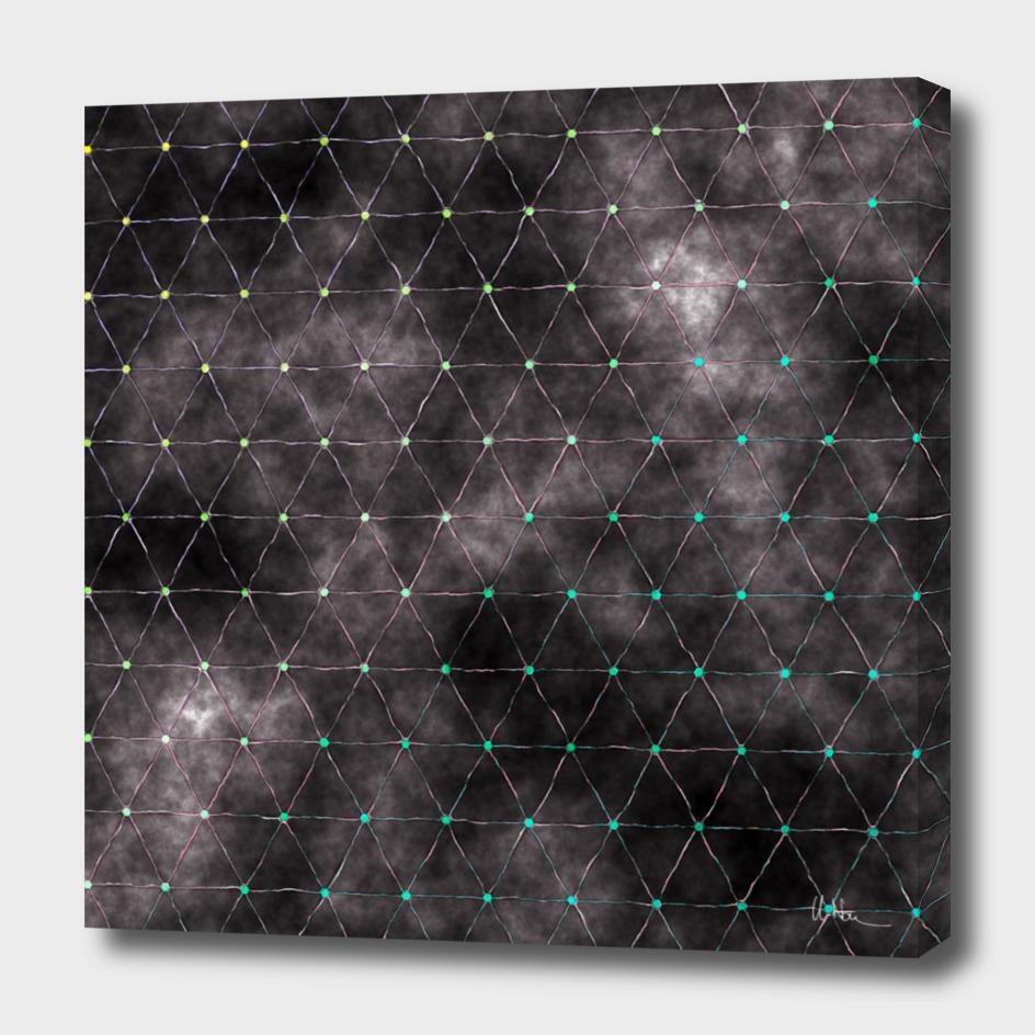 Galaxy - triangles pattern