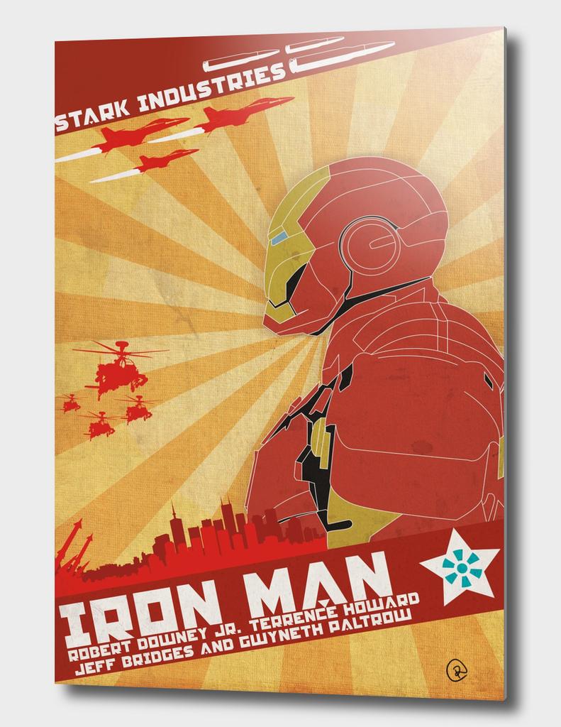 Poster Iron Man Constructivism