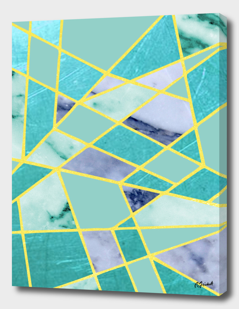 Abstract #439 Green and Gold