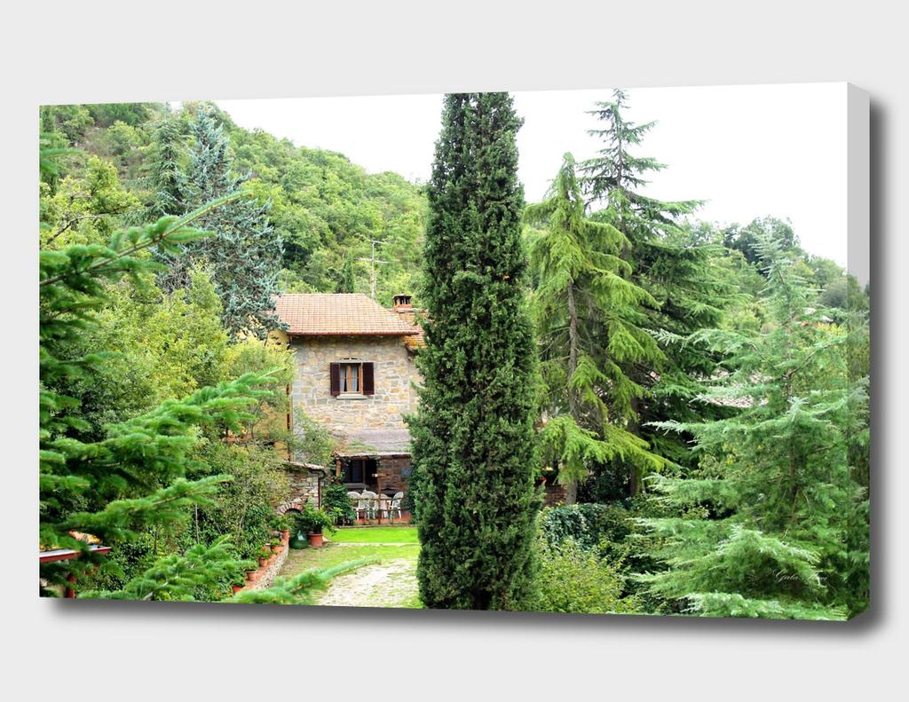 Italian tuscan farmhouse