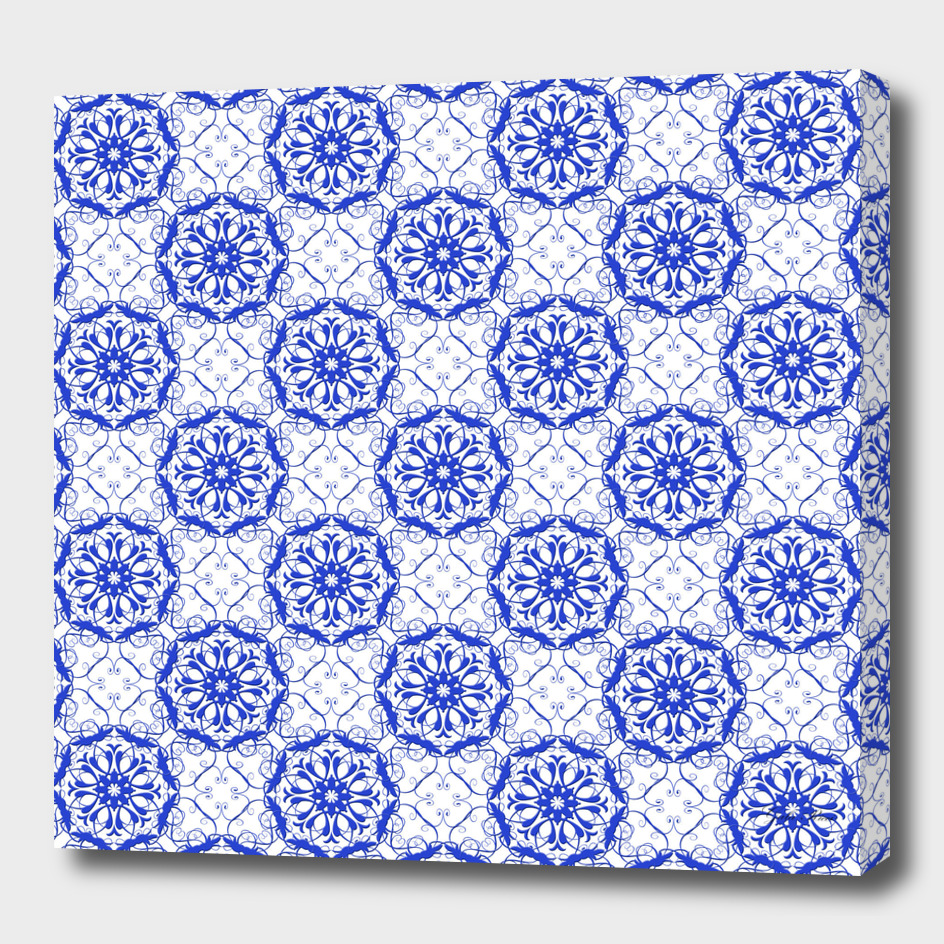 baroque blu e pattern