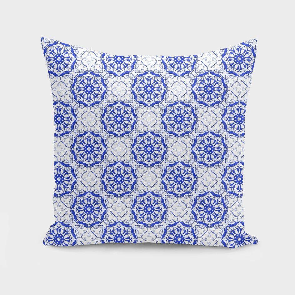 baroque blu e pattern