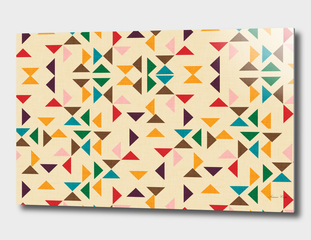 Kilim triangle pattern beige