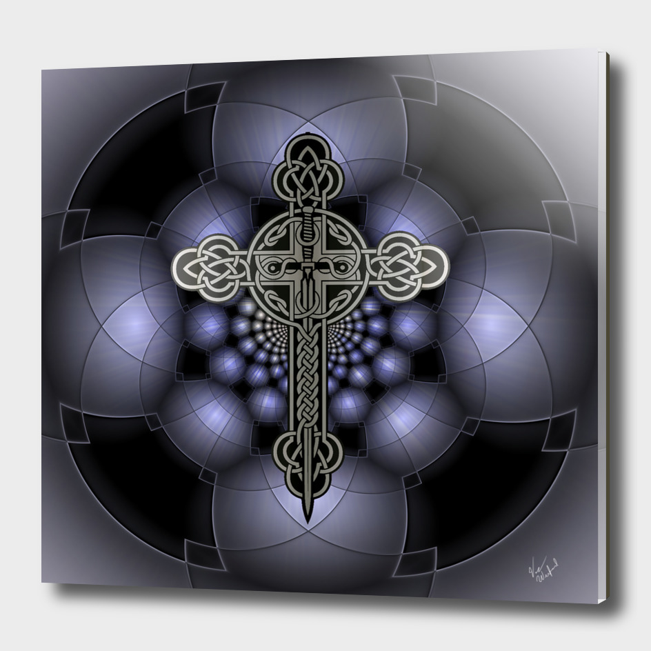 Celtic steel cross