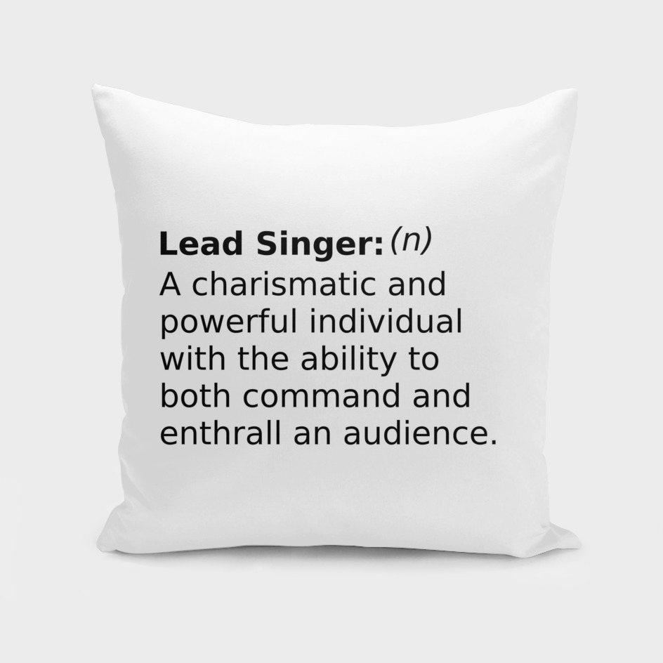 Definition of a Lead Singer