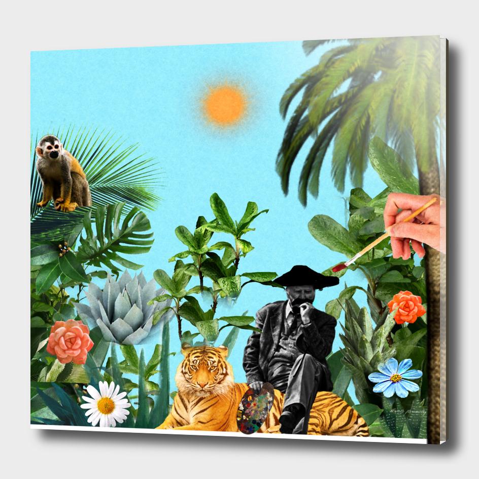 Humble tribute to Rosseau el Aduanero. Painters. (Serie)