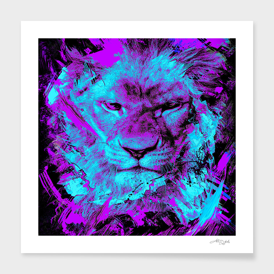 Lion face abstraction