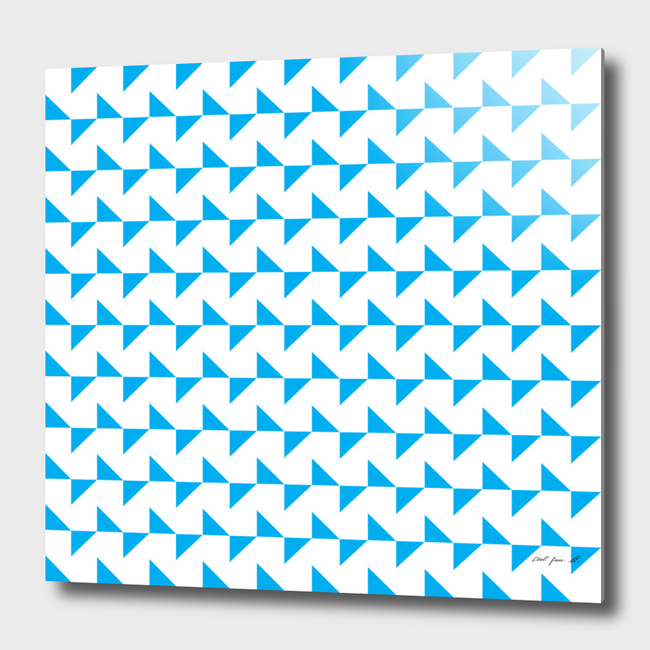 Flying Triangles Blue