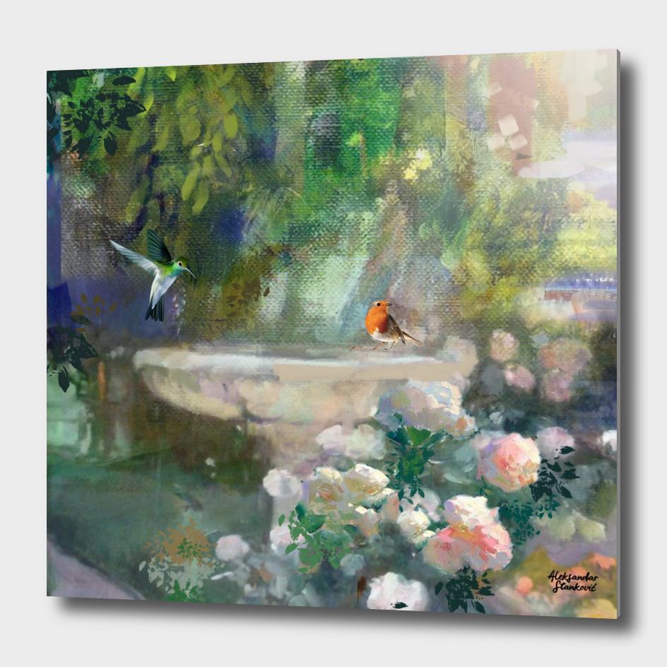 Bird Fountain - Detail
