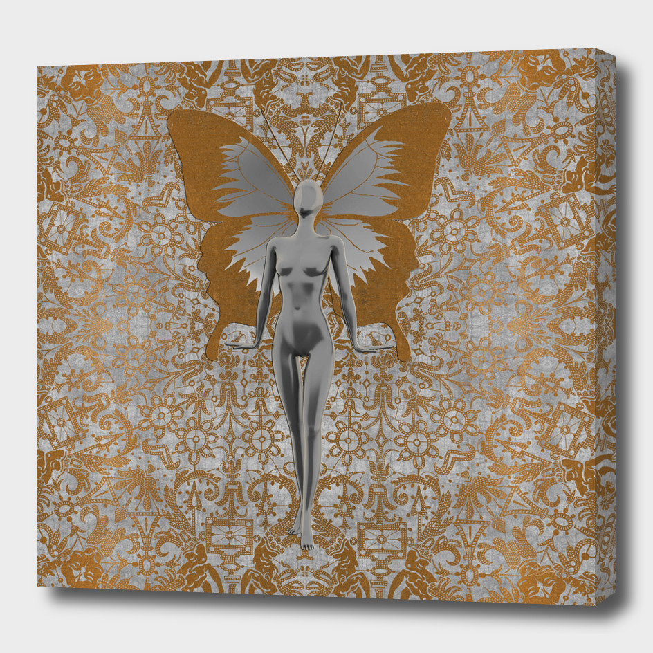 Silver Fairy on Gold and Silver