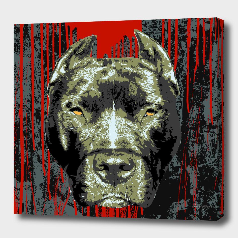 Pit bull grunge poster