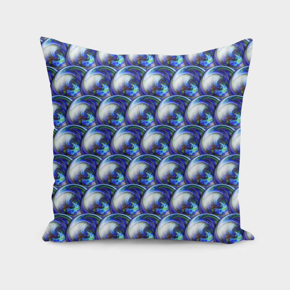 Abstract 3d seamless pattern with bubbles