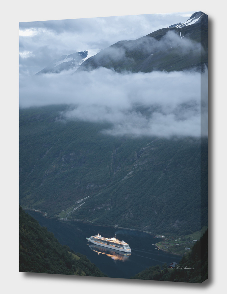 Cruise Boat in the Fjord
