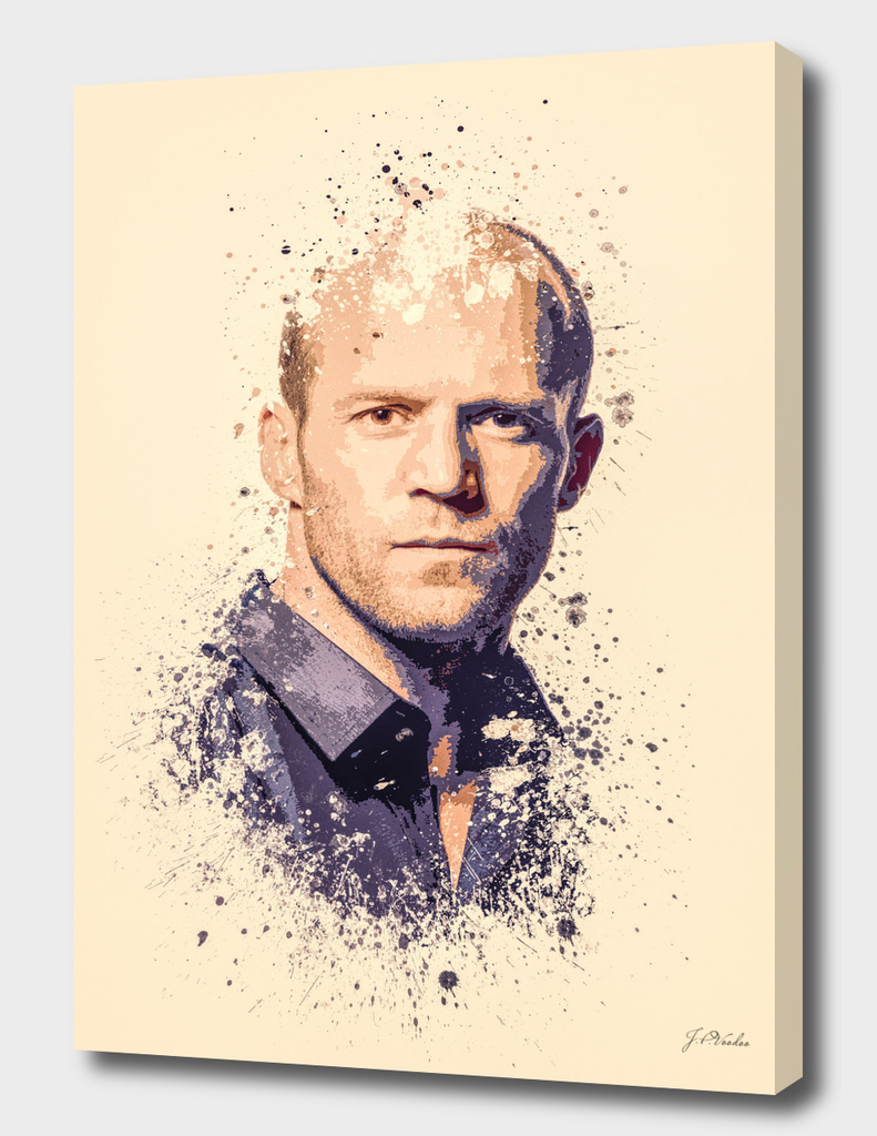 Jason Statham splatter painting