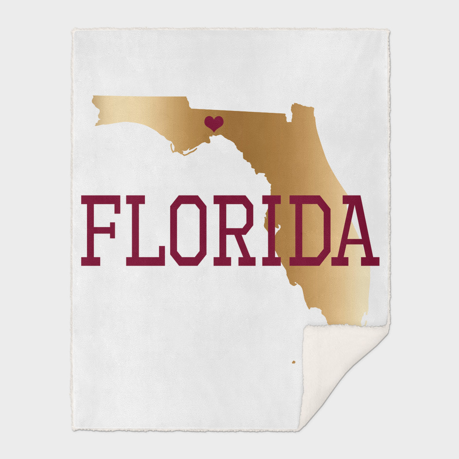 Florida Gold and Garnet With Capital