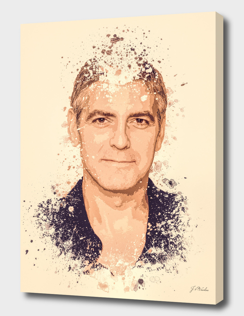 George Clooney splatter painting