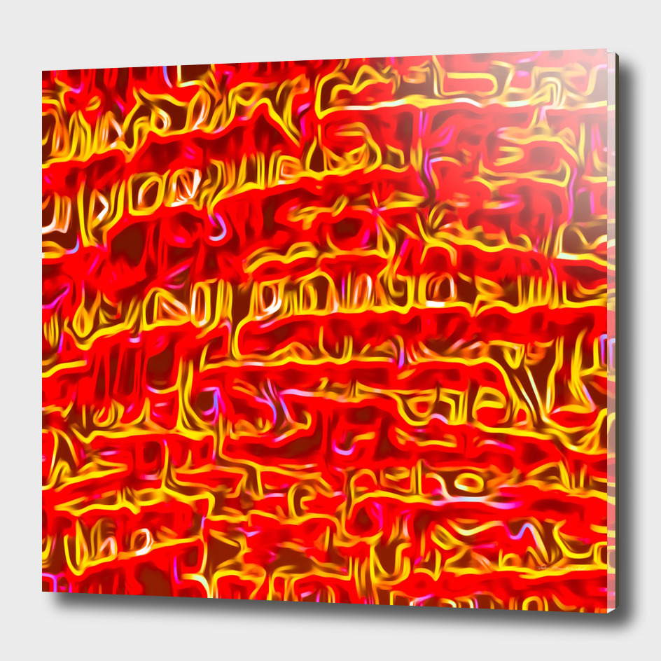 neon light painting pattern abstract in red and yellow